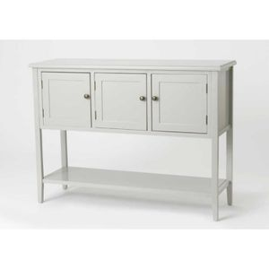 CONSOLE Console Buffet 3 Tiroirs Grise