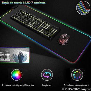 TAPIS DE SOURIS Tapis de Souris Gamer Lumineux Tapis de souris LED