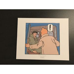 AFFICHE - POSTER TINTIN - exclamation - 19,5x24cm - AFFICHE-POSTER