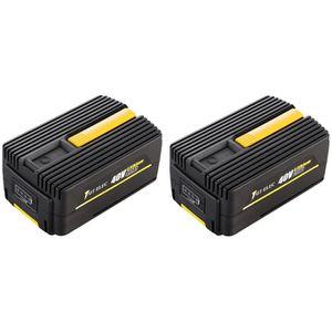 PIÈCE OUTIL DE JARDIN Pack 2 batteries GT ELEC 40 Volts : capacité 4 Ah