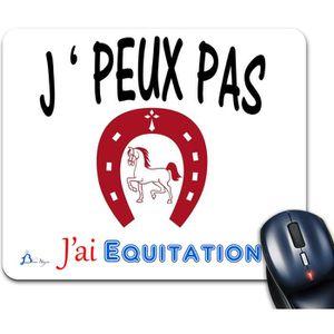 Tapis De Souris J Peux Pas J Ai Equitation De Marque Blue Naja