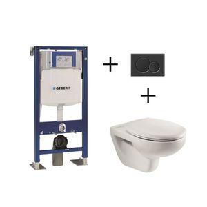 WC - TOILETTES Pack complet wc suspendu Bâti-support 112 cm GEBER