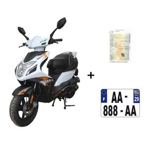 SCOOTER Scooter CKA R8 50cc 4T noir/blanc+ IMMATRICULATION