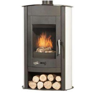 POÊLE À BOIS Poêle à bois acier émaillé 9.5kw blanc - 369107B G