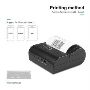 IMPRIMANTE 80mm mini-imprimante thermique sans fil bluetooth