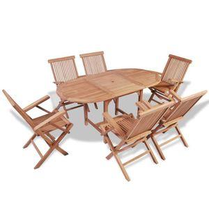 Table de jardin extensible avec chaises - Achat / Vente Table de ...