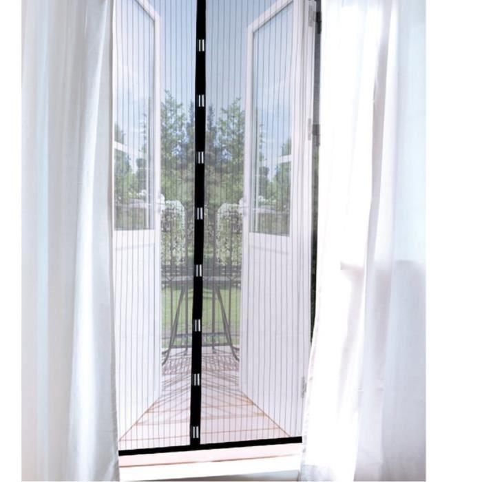 99bd8dd7a700d Rideau moustiquaire magnetique fenetre porte aimantee blanc 90x210cm ...