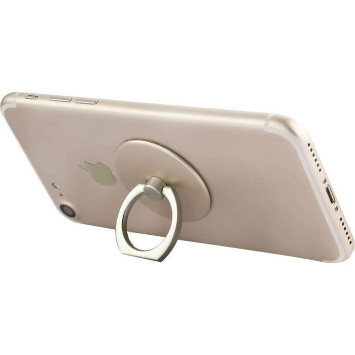 Bigben connected anneaux rotatifs pour smartphone x30 doré argenté rose doré