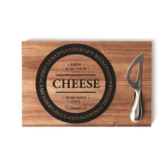 SP Planche + couteau à fromage - 30 x 20 cm - Bois