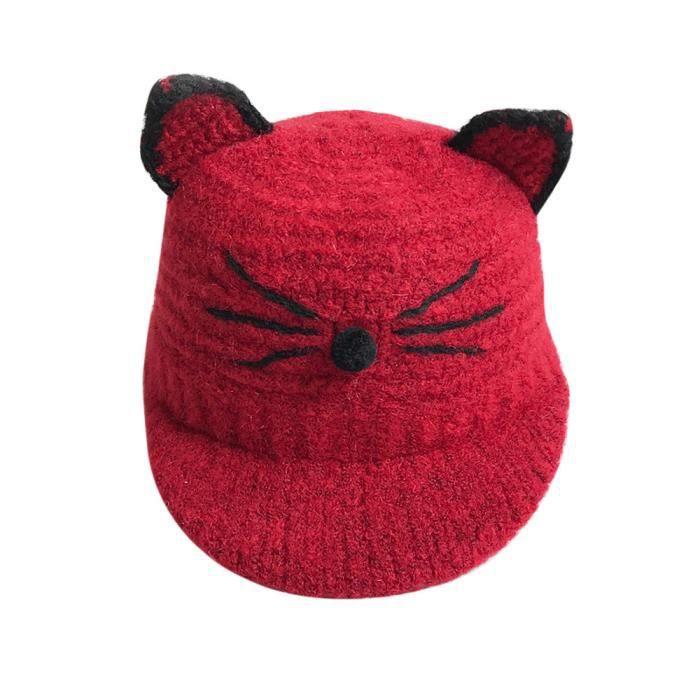 ... tricot crochet Bonnet Bonnet d hiver chaud Chapeau-LNP71021365RD 911.  CASQUETTE Fricemarke ®Bébé Tout-petits enfants Garçon Fille 6118c48069b
