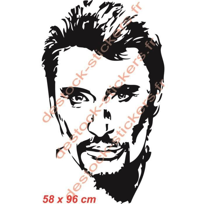 stickers johnny hallyday achat vente stickers johnny hallyday pas cher cdiscount. Black Bedroom Furniture Sets. Home Design Ideas