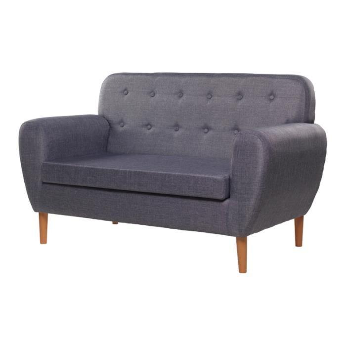 Canapé vintage bleu-gris - Idéal pour chambre, salon, salle à manger ...