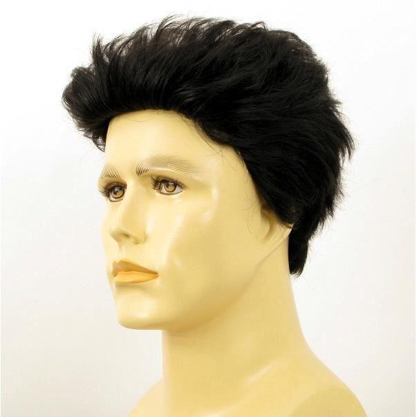 Perruque homme noir cheveux naturels ALBERT