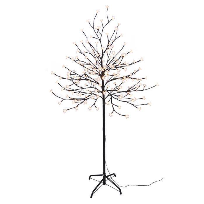 arbre lumineux led avec 200 led hauteur env 150 cm couleur blanc chaud achat vente sapin. Black Bedroom Furniture Sets. Home Design Ideas