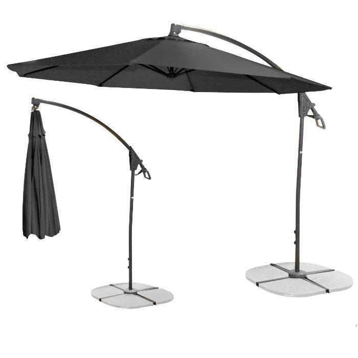 Parasol déporté noir   Achat / Vente parasol Parasol déporté noir