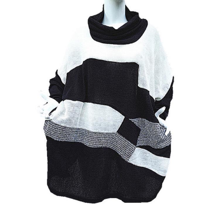 pull tunique grande taille achat vente pull tunique grande taille pas cher cdiscount. Black Bedroom Furniture Sets. Home Design Ideas