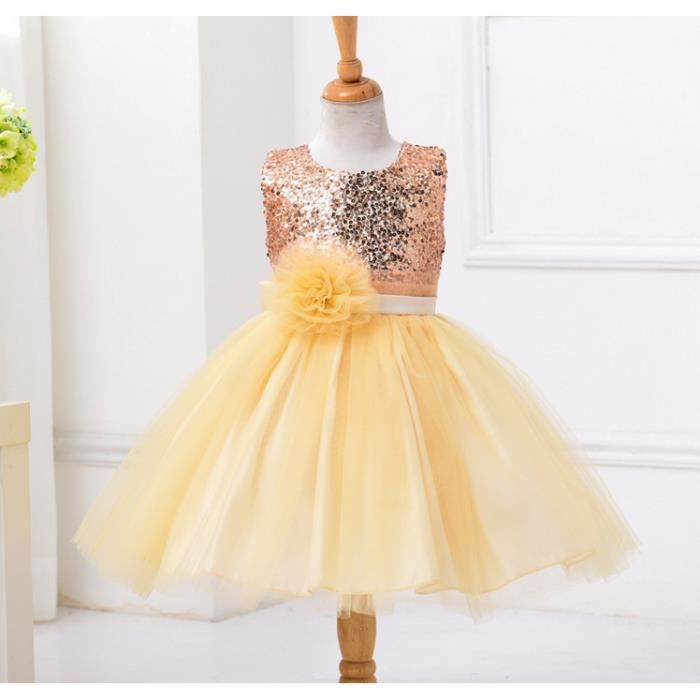 968a37ac662c Outaking Luxe Paillette Robe de Soiree Fille Ro... Champagne - Achat ...