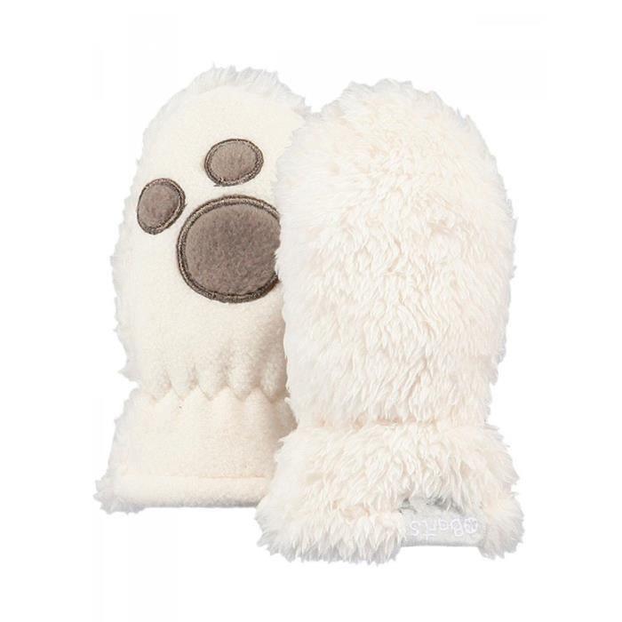GANT - MITAINE BARTS - Moufles fourrure polaire blanc ivoire bébé. Accessoire  bébé fille du 3 au 18 mois.Moufles BARTS.Fourrure polaire ... e4987c32df6