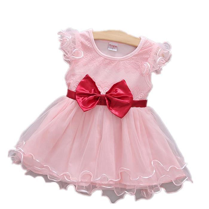 Robe de bébé Fille Princesse dentelle vêtements
