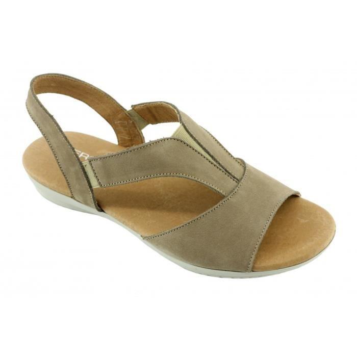 f8297aa634f3a3 Sierra , Sandale Nu,pied confort pied sensible chaussures pour Femme  flexible et ultra souple ...