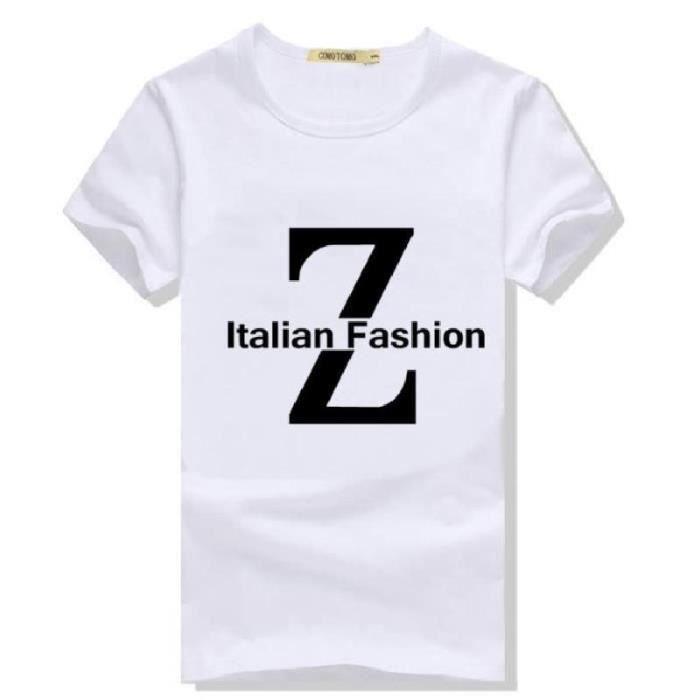 d47d4acc59e2c 9 Couleurs Tee Shirt Manche Courte En Blanc Pas Cher De Marques Hommes  Imprimer Adolescent Noir Enfant Garcon Slim Fit Casual
