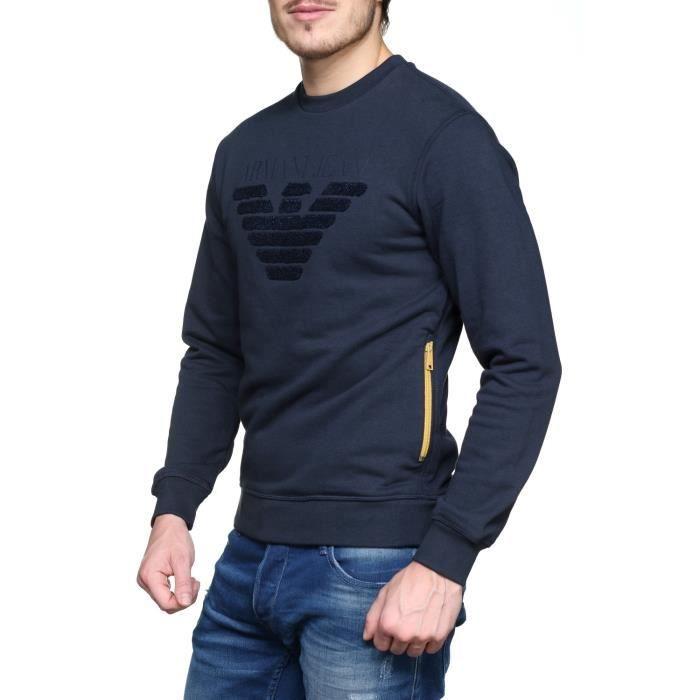 Sweat Armani Jeans 6y6m09 - 6j1mz 1579 Blu Notte Bleu Bleu - Achat ... 4a67c2b080d8