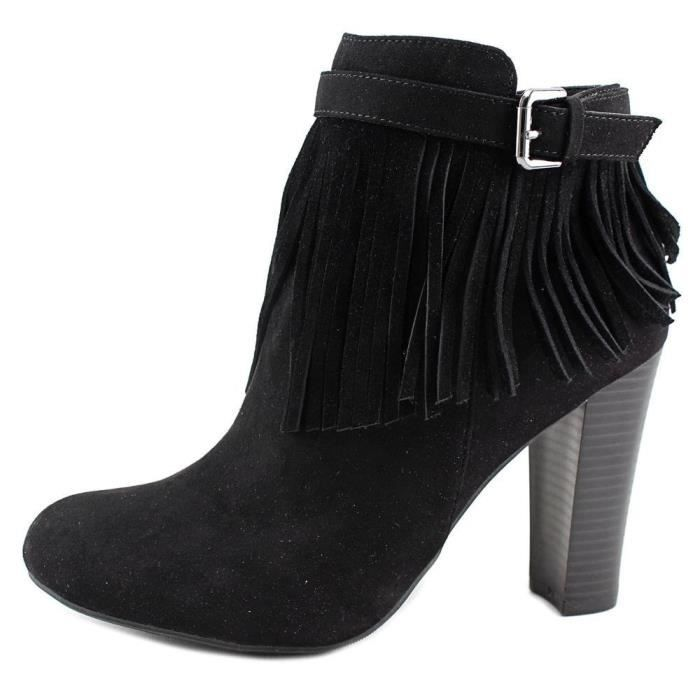 Womens Persia Round Toe Ankle Suede Fashion Boots V2RVE Taille-40 1-2