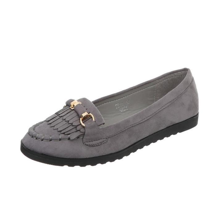 36 rose Babouche La Chaussures beige Olive gris Gris neurs Fl noir Femme xYWq6T