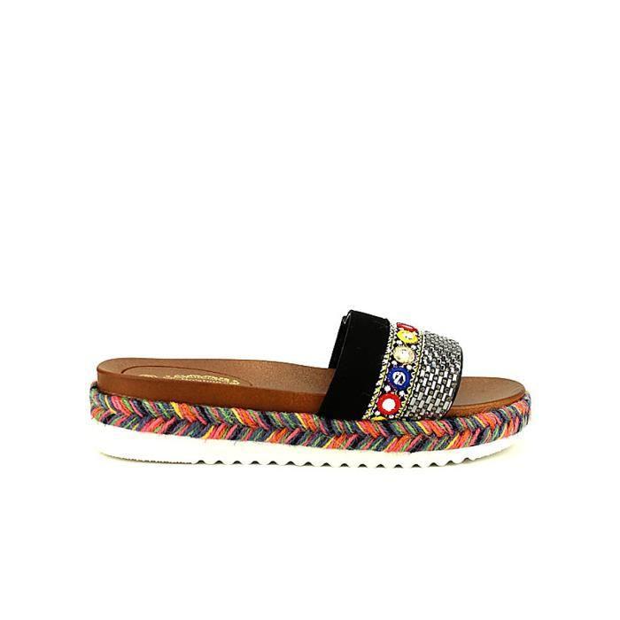 e844df82fc0ce Sandale multicolore femme - Achat   Vente pas cher