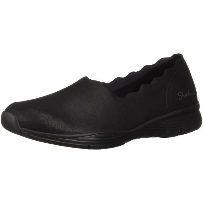 Slip Udq0c Collar Women's Ripple Loafer Taille 42 triple scallop Skechers Seager On N0PnkXw8O