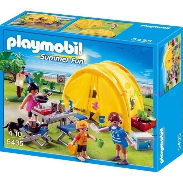 Playmobil 5435 famille et tente de camping achat vente for Piscine mobile prix