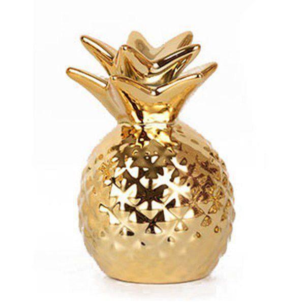Tirelire en forme d ananas or en ceramique , ornements de tirelire d ananas  a economiser des pieces or, tirelire de stockage de d59d7db19b8f