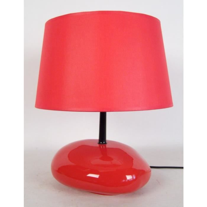 Galet 60643 Rouge Luminaire Lampe A Poser Achat Vente Galet