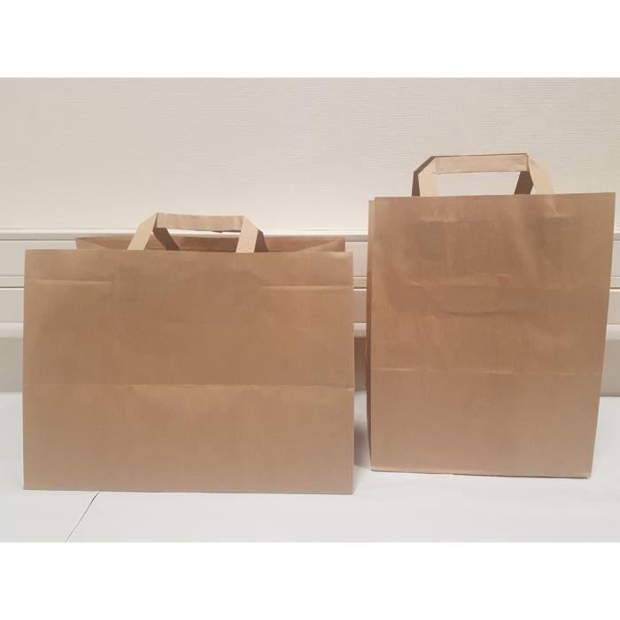 SAC PLASTIQUE - CABAS 10 sacs boutique  papier 15 litres avec poignée ma