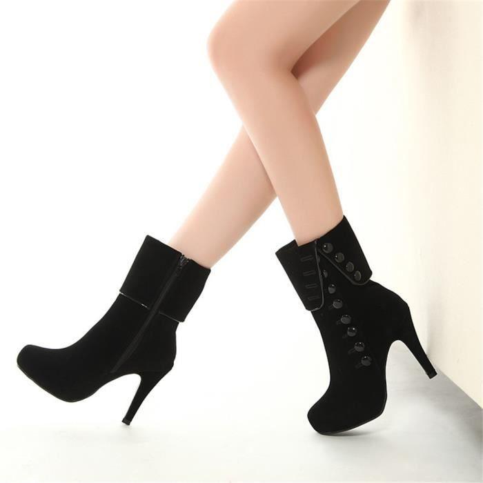 Bottines Femmes Talons hauts Mode Chaussures WYS-XZ022Noir39 h88VpUHW