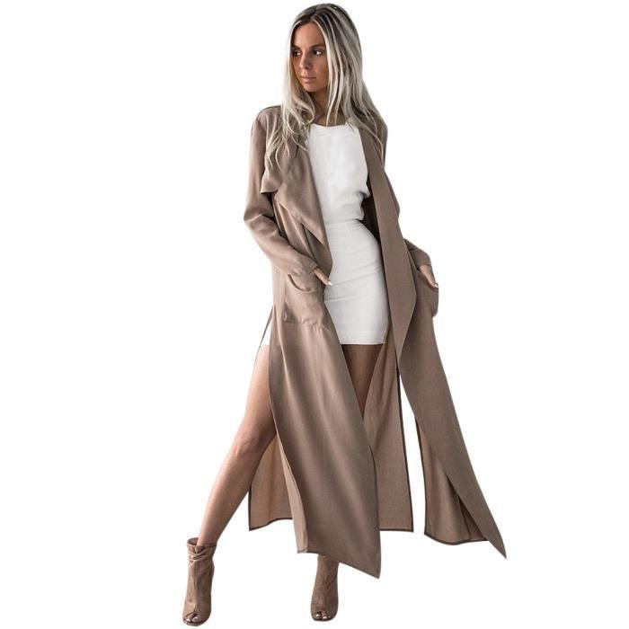 Longues Femmes Cascade Cardigan Pour zf5261 Jacket Hauts Manches Manteau Zareste®les Outwear Eqxfpwg1gn