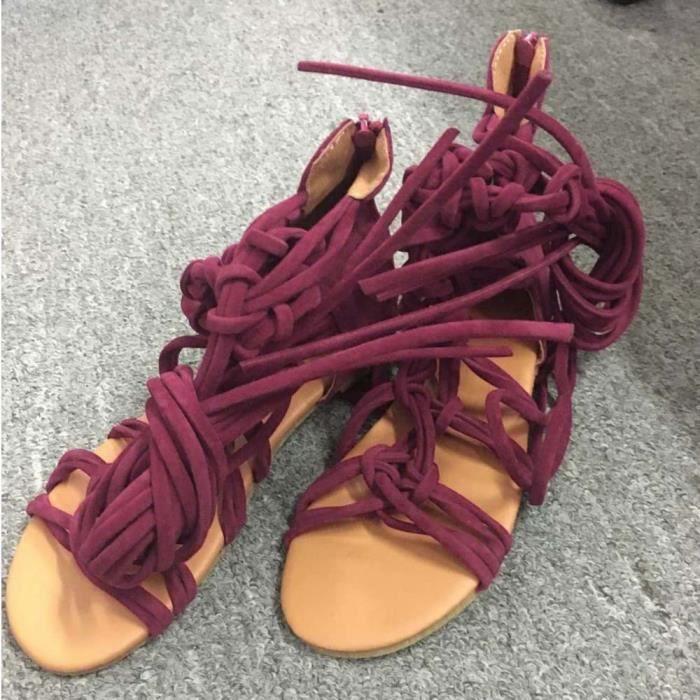 Femme D'été Chaussures Zareste®bottes Rouge Haute Bohème Yxp70320653rd35 Sandales Casual PxSwOq1