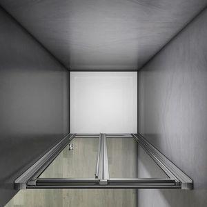 ... PORTE DE DOUCHE 80x185cm Bifold Door,Paroi De Douche Pliante 4mm V ...