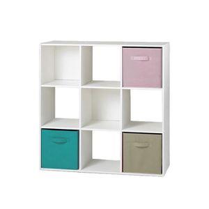Meuble de rangement achat vente meuble de rangement pas cher cdiscount - Meuble 9 cases ...