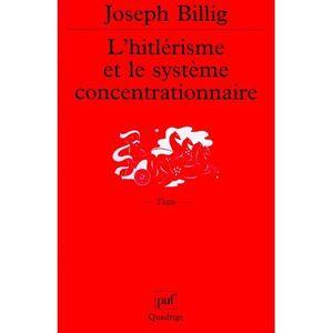 AUTRES LIVRES L'hitlerisme et le systeme concentrationnaire