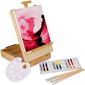 KIT PEINTURE Artina set de peinture acrylique de 27pieces Flore