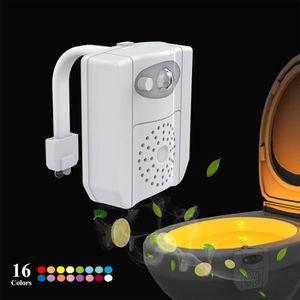 WC - TOILETTES Lampe de Toilette Veilleuse LED Détecteur, Détecte