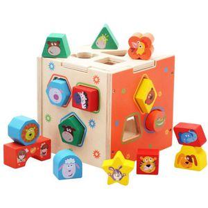 JEU D'APPRENTISSAGE Puzzles en bois Enfants Boîte Éducatifs Enfants Je