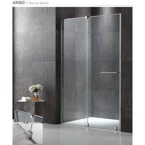 porte de douche paroi de douche frontale coulissante 120x200cm ver - Douche Italienne Dimension1752