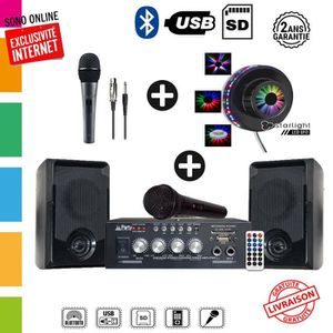 PACK SONO Pack Karaoké First 100 complet - 2 x 50 watts + je