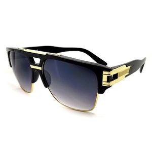 LUNETTES DE SOLEIL Lunettes soleil OR GOLD luxe homme   femme XL swag 5c4e231f1ea7