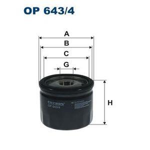 FILTRE A HUILE FILTRON Filtre à huile OP643/4
