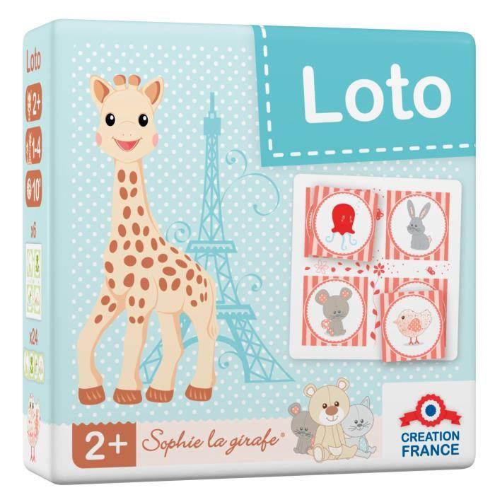 SOPHIE LA GIRAFE Loto - 24 cartes - Garçon et Fille - A partir de 2 ans - Livré a l'unitéLOTO - BINGO