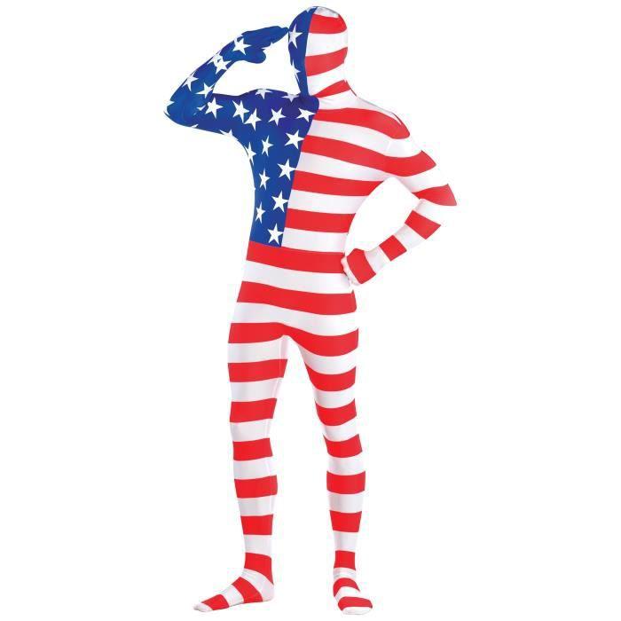 AMSCAN Costume Homme Partysuit Drapeau Americain