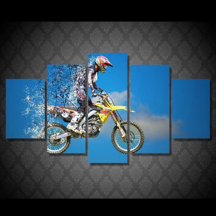 Hd Imprimé Motocross Voiture Peinture Impression Sur Toile Chambre